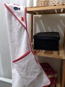 Cape de bain et gant bebe Elise (3)