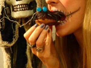 muffin-araignee-haloween-bouche